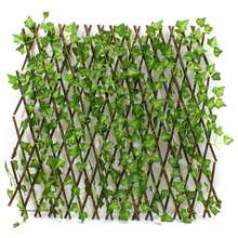 New Extension Type Garden Buildings Fence Artificial Green Leaf Branch Bucolic Mula Net Wooden Home Restaurants Wall Decoration