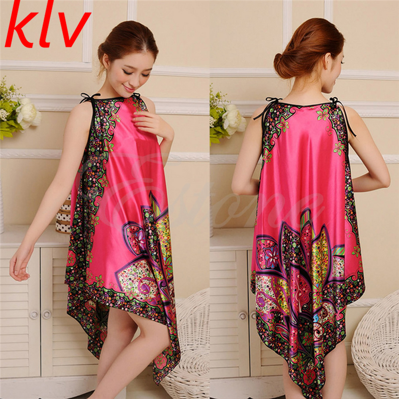 KLV 2018 Women Sexy Casual Long Dress Chemise Nightgown Sleepwear Bath Nightwear Bath Robes Retail Wholesale Factory Price!