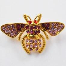 MZC Muhteşem! Moda Retro Alaşım Reçine Bal Arısı Broş Figür Böcek Tasarım Broş En Iyi Arkadaşlar için Arı Kanal Pin Broş