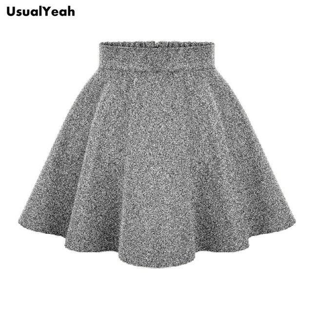 eee8a3fa1 2017 Moda para Mujer de Cintura Alta Faldas Del Tutú de las mujeres  Primavera Otoño Invierno Envío Libre Mini Falda de Color Caqui Negro Gris  en ...