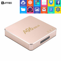 Nieuwste A96 Gold Android TV BOX S905X Quad Core Volledig Geladen Kodi 1 GB + 8 GB HDMI 4 K Wifi Smart Set top box Streaming Media speler