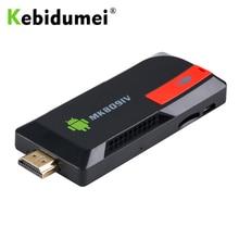 Kebidumei adaptador de televisão wireless, dongle 2gb 8gb com android, wifi e bluetooth, conversor de áudio hd, mk809iv tomada ue/eua