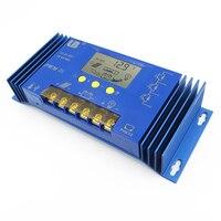 40A 60A PWM LB Brand Solar Panel Charge Controller Regulator LCD Display 12V/24V/48V Auto 40A Lithium iron battery Li Li ion