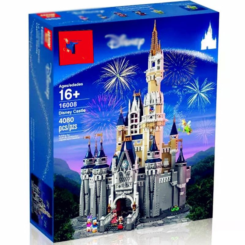 the Princess Castle 16008 the Cinderella the 71040 Toy Castle Model Building Block Bricks DIY Educational
