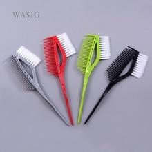 Pro siyah plastik saç boyası boyama fırçaları tarak kuaför salonu tonu kuaförlük şekillendirici araçları saç rengi DIY tarak fırça ile
