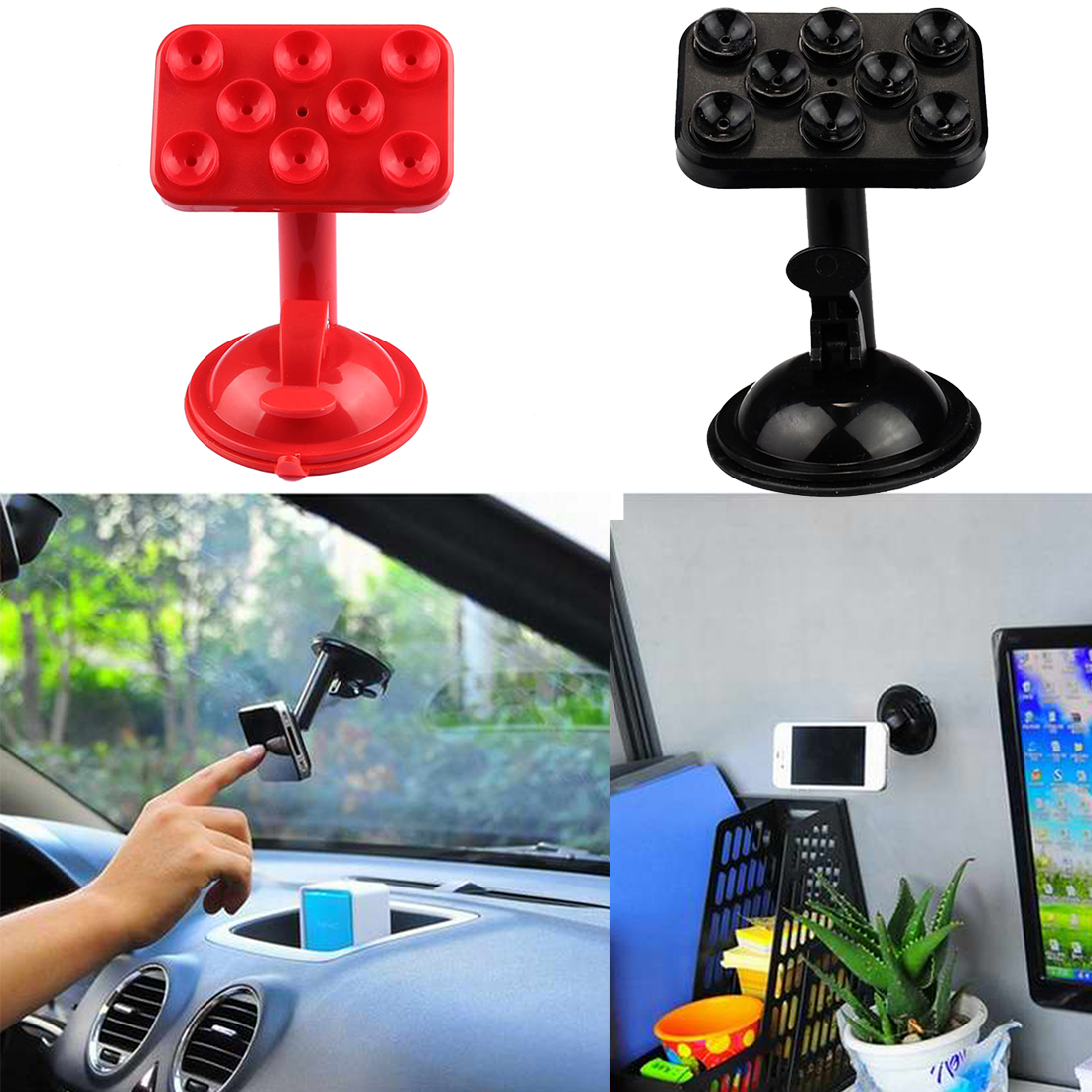 Etmakit Fashion 360 Degrees Suction Cup Car Holder Stand Bracket Universal Car Phone Holder in Phone Holders Stands from Cellphones Telecommunications