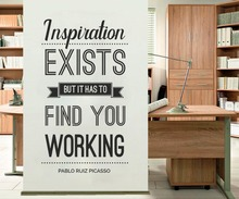 YOYOYU Vinyl wall stickers Inspiration Exists Quote Removeable Wall Decal Salon Office Studio Decor Room Decoration ZX261