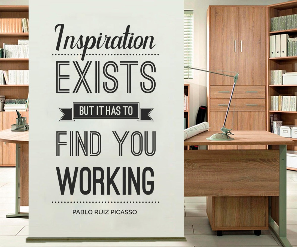 YOYOYU Vinyl wall stickers Inspiration Exists Quote Removeable Wall Decal Salon Office Studio Wall Decor Room Decoration ZX261