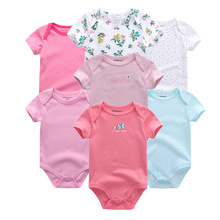 7pcs/lot Baby Boys Girls Clothes Rompers Jumpsuit