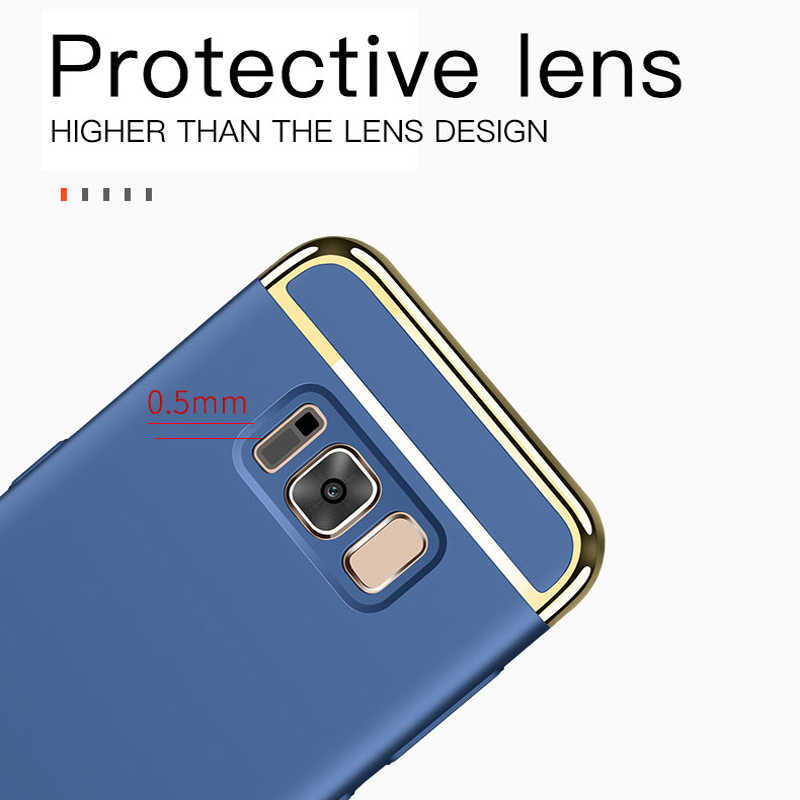 高級 360 度耐震電話ケース三星銀河 S10 E S9 S8 S7 S6 エッジプラス Note8 9 J8 j4 J6 プラス 2018 カバーケース