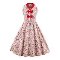 Sisjuly Women S Vintage Dress Pattern Print 2017 New Summer 60s Red Sleeveless Vintage Dress Swing