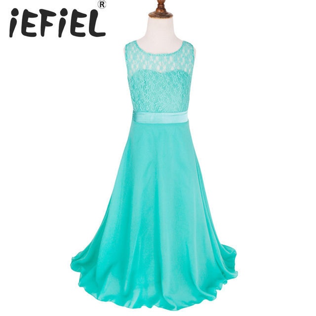 iEFiEL iEFiEL Kids Girls Flower Lace Dress for Party and Wedding ...