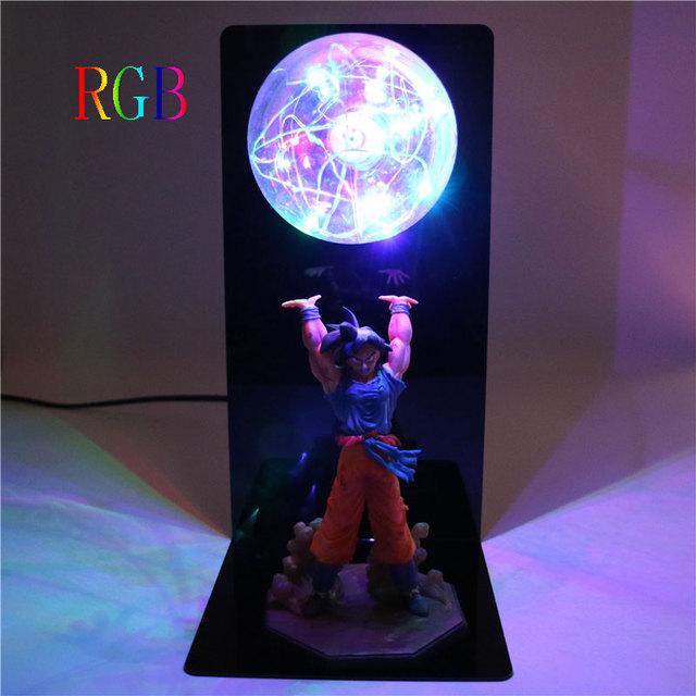 Dragon Ball Z lámpara Goku bombas de fuerza. Iluminación decorativa para niños bebé. Luz LED para niños