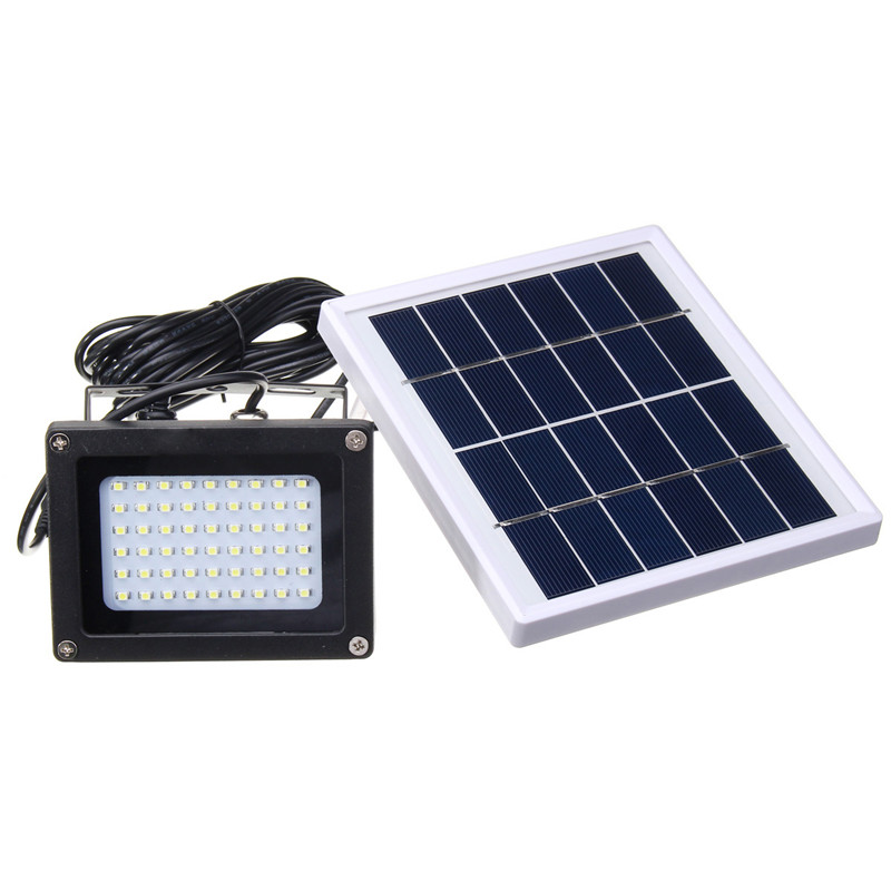 Solar Power Dusk to Dawn  LED Light Sensor Flood Spot Lamp Outdoor Garden Pathway Wall Security Light Waterproof 54-in Solar Lamps from Lights & Lighting    2