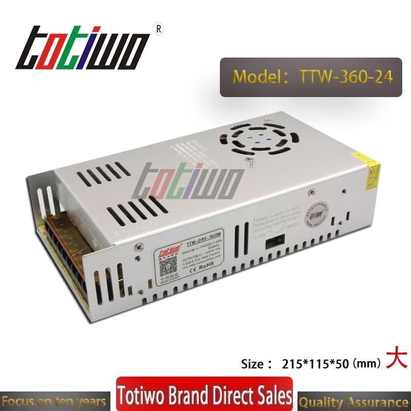 Alimentation en alimentation led 24 V 15A 360 W transformateur de source d'alimentation 220 v 24 v ac dc 24 volts led d'alimentation conducteur pour bande led trafo