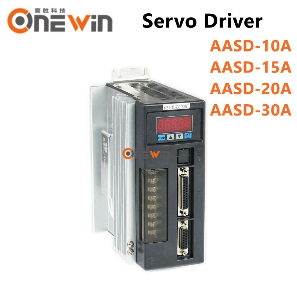 AC servo driver de motor AASD-10A AASD-15A AASD-20A AASD-30A Controlador 50-60 hz 220 v