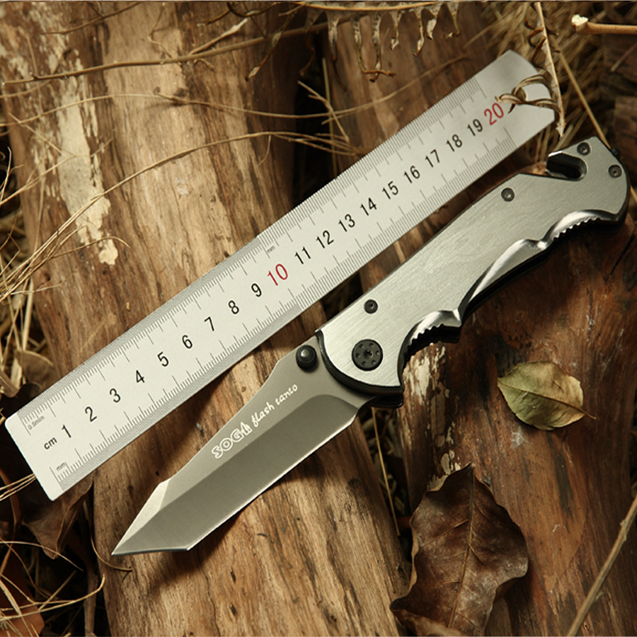 Big Size Fire Bird 440 Steel Folding Blade Outdoor font b Knife b font Aluminum Handle
