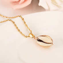 Gold Necklace SHELL starfish Pendant Women Jewelry Valentines Gift Sweater  chain Romanti Fancy Accessories charms Bijoux PNG 75562adad005