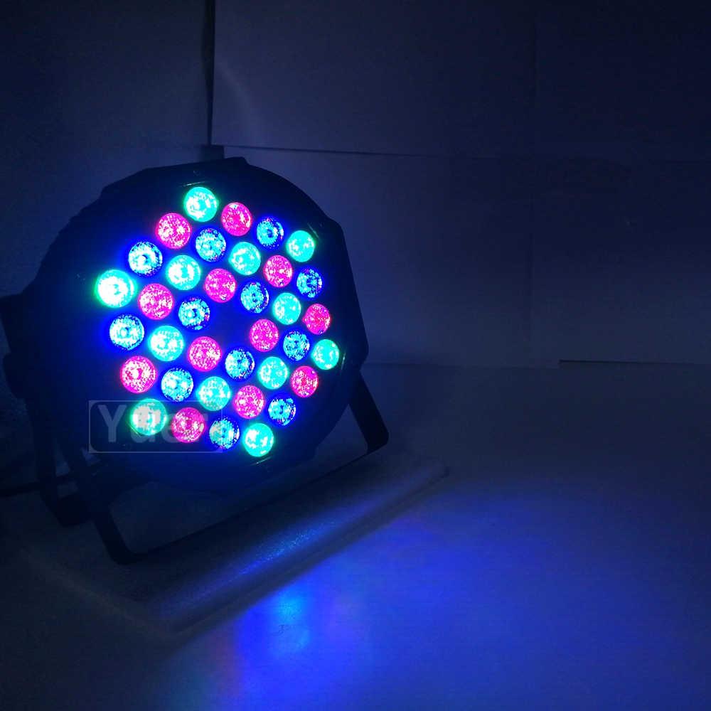 10 шт./лот светодиодный плоский Par 36x3 Вт RGB 3в1 освещение Профессиональный светодиодный сценический эффект DMX512 Master-Slave DJ Disco вечерние и свадебные