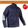 Мужская прочная куртка Bauskydd  темно-синяя  с несколькими карманами  для работы