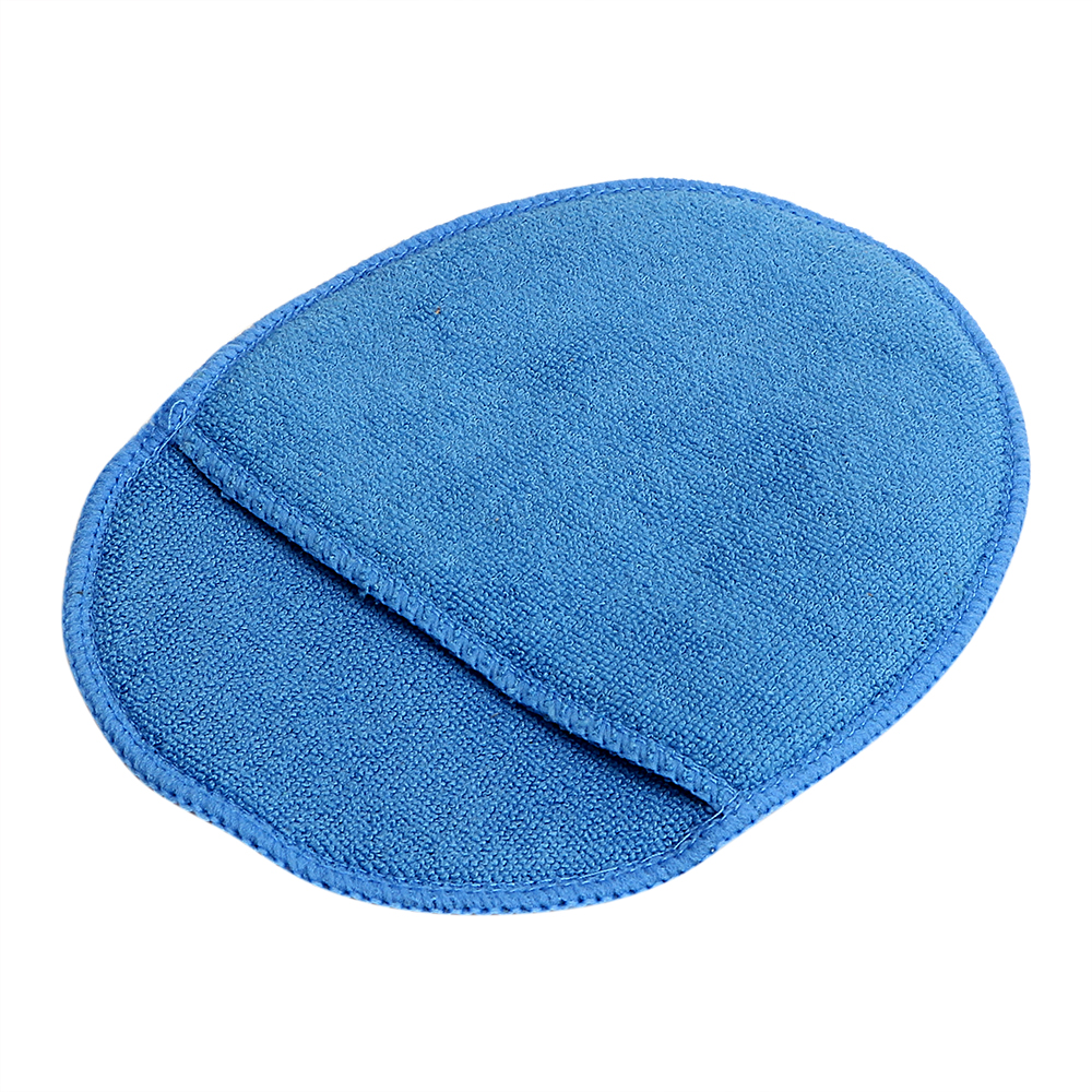 Paint Care Car Wax Sponge With Pocket Polish Pad Foam Glass Sponge Blue For Car Home Cleaning Soft Microfiber