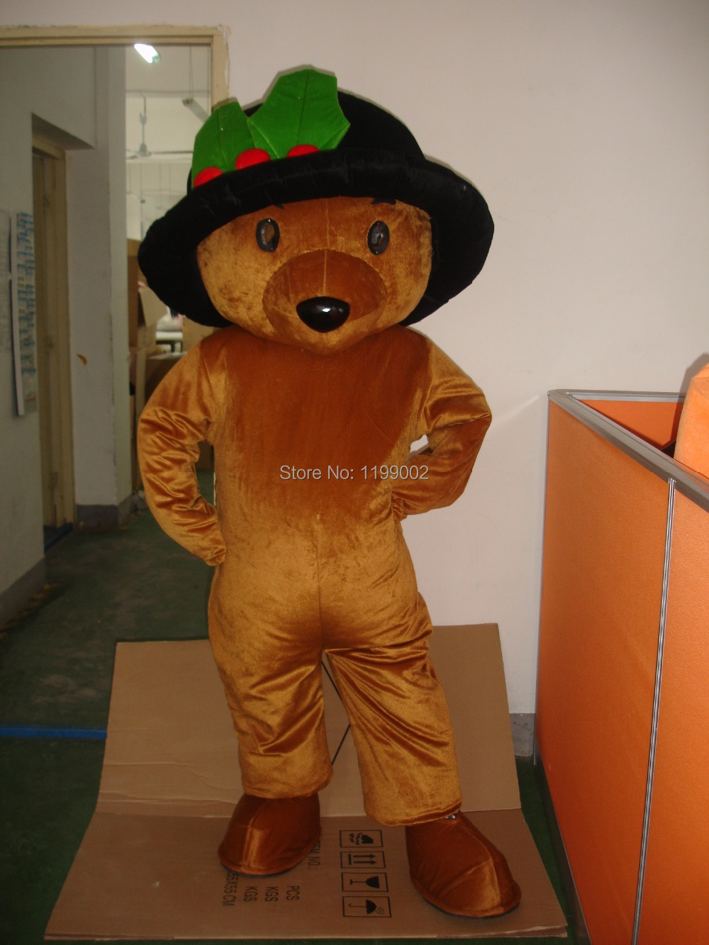 MASCOT CITY Lovely Long Hair Plush Brown Teddy Bear Mascot Costume Adult Size Teddy Bear Mascotte Suit Fit Fancy Dress Free Ship