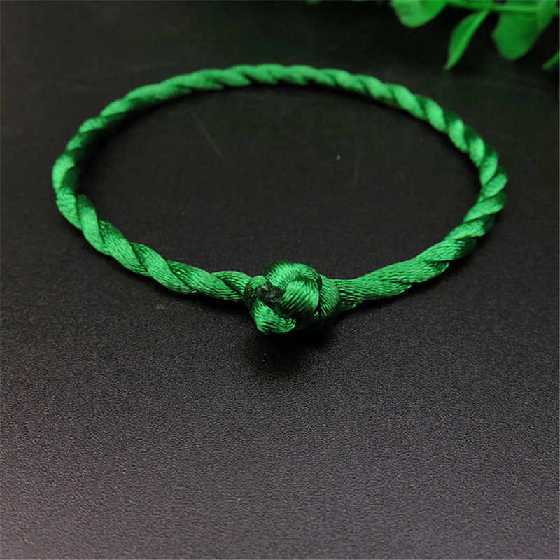 Hot 1PC Fashion Red Thread String Bracelet Lucky Red Green Handmade Rope Bracelet for Women Men Jewelry Lover Couple