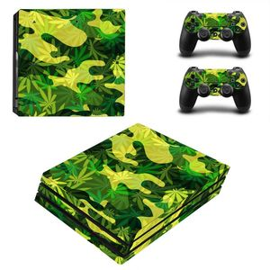 Image 4 - Green Leaf For PS4 Pro Vinyl Skin Sticker Cover Console & 2PCS Controller Skin Decal For Sony Playstation 4 Pro Game Accessories