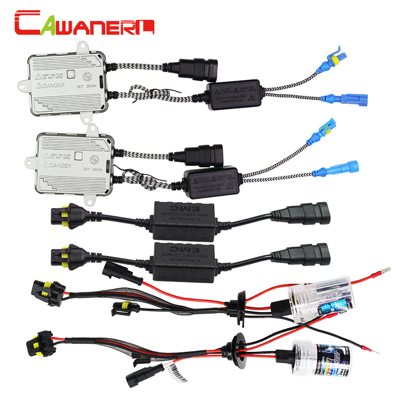 Cawanerl 55W 9005 HB3 H10 Canbus HID Xenon Kit Lamp AC Ballast No Error Decoder Anti Flicker 3000K-12000K Car Light Headlight buildreamen2 9006 hb4 55w no error hid xenon kit 3000k 8000k ac ballast bulb canbus decoder anti flicker car headlight fog light