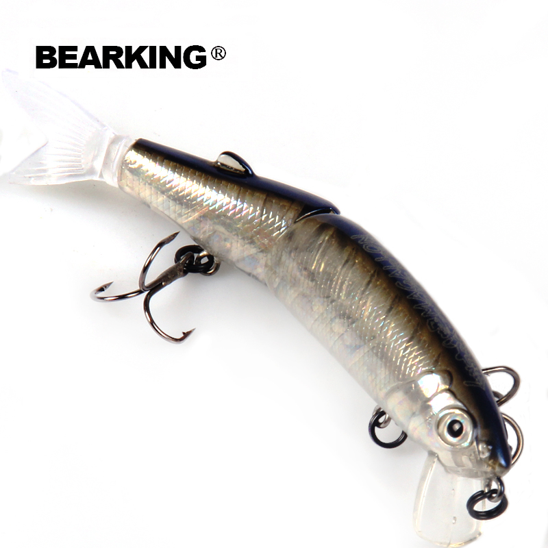 Bearking brand 1PCS Minnow Fishing Lure Laser Hard Artificial Bait 3D Eyes 11.3cm 13.7g Fishing Wobblers Crankbait Minnows fishing lure minnow crankbait artificial hard swim bait hook tackles 3d eyes new