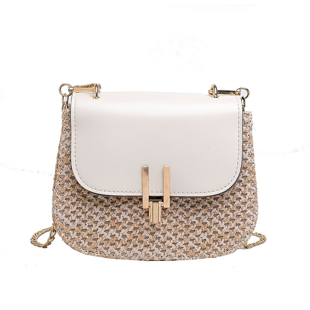 Handbags Bags For Women2019 New Straw Versatile Messenger Handbags Fashion Single Shoulder Small Square Solid Package9513