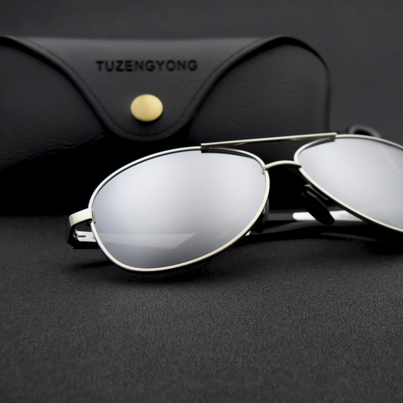 2019 New Men Women Polarized Sunglasses Aviator Metal Glasses locomotive Eyewear