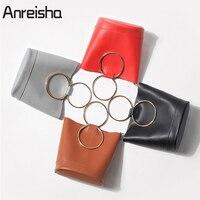 Anreisha Autumn Women Handbag Quality PU Leather Shoulder Bags Vintage Messenger Bag For Ladies Portable Bucket