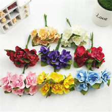 The new plum cherry peach flower simulation simulation silk flowers DIY Sen female hand wreath material(China)