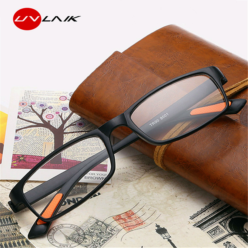 UVLAIK TR90 Reading Glasses Women Men Transparent Glasses Anti-drop ultra-light Resin Toughness For Reader 1.0 1.5 2.0 2.5 3.0