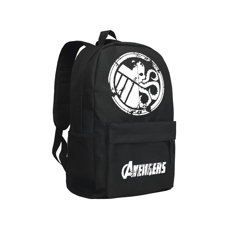 Zshop The Avengers Backpacks for Teenage Boys Black Batman Superman School Bags Dead Pool Mochila рюкзаки zipit рюкзак shell backpacks
