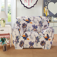 Modern Minimalist Floral Printing Stretch Couch Protective Slipcover Case Removable Elastic All Inclusive Corner Sofa Seat
