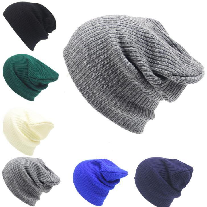 где купить Women Men Unisex Knitted Hats Winter Warm Soft Cap Casual Beanies Solid Hip-hop Snap Slouch Skullies Bonnet Beanie Hat Gorro по лучшей цене