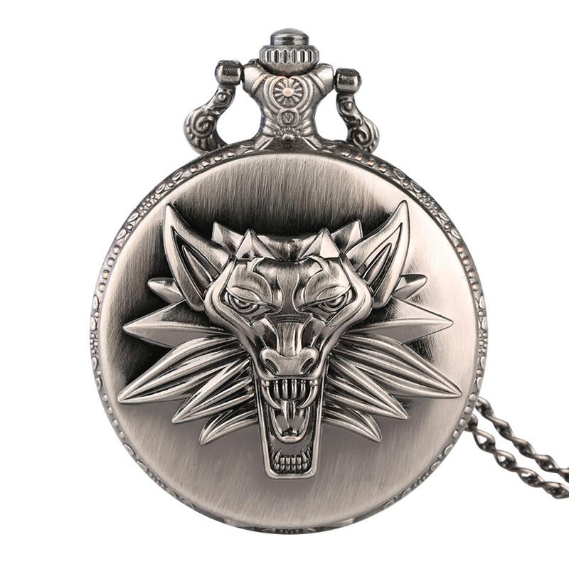 Watch Chain Pocket Watch Antique Retro Relief For Father's Day Gifts Dangle Pendant Quartz Movement Vintage Pocket Watch Men