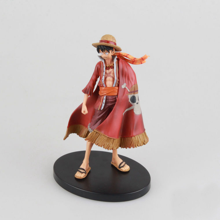 Anime One Piece Monkey D Luffy The Ultimate King Ver. Red Cloak PVC Action Figure OP Luffy Collectible Model Toy 17cm image