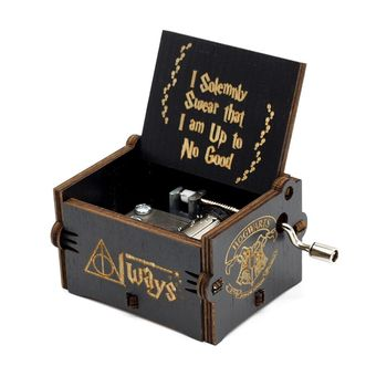 Engraved Wooden Harry Potter Music Box