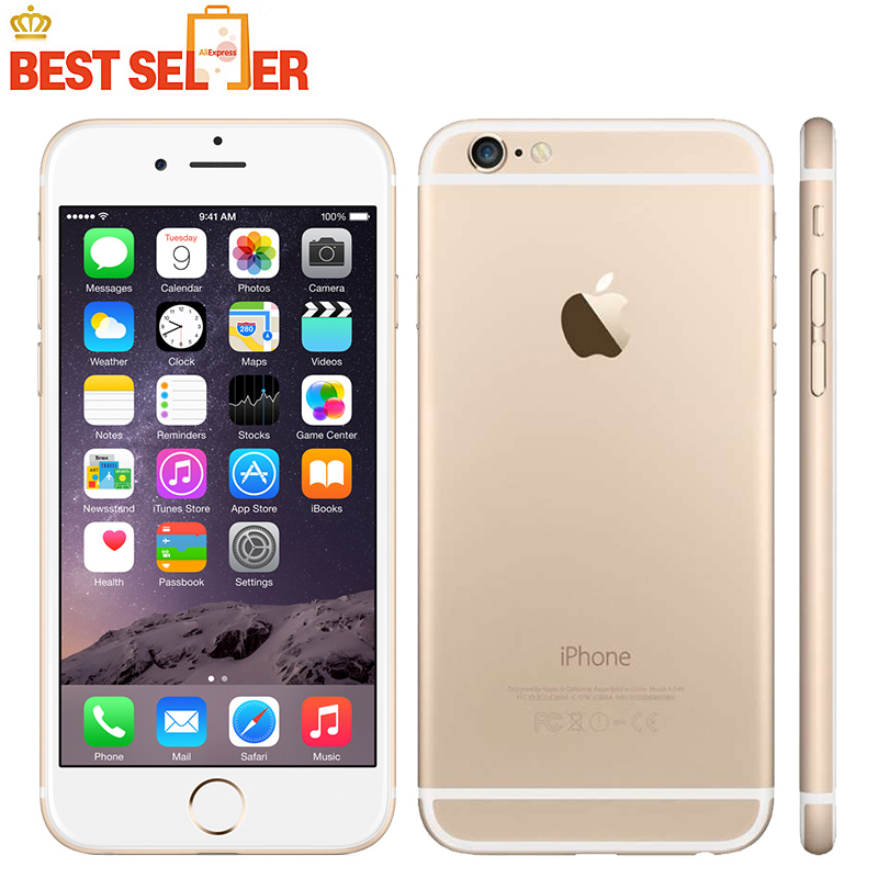 Original Unlocked Apple iPhone 6 4G LTE Mobile Phone 16GB/64GB/128GB ROM 4.7 inch IOS Dual Core Touchsceen SIM Free Smartphones(China)
