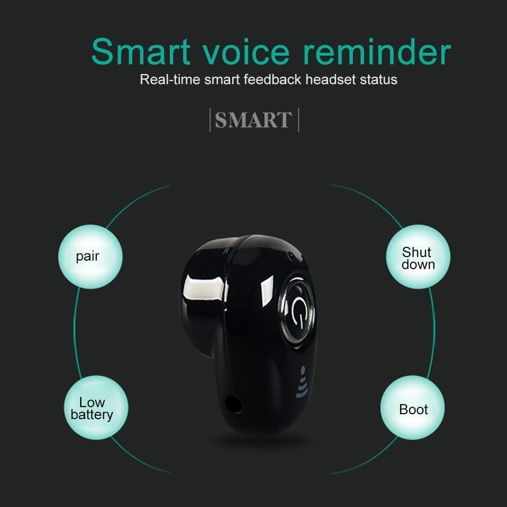 S650 Mini Bluetooth Earphones Wireless Headphones Headset wint Mic Earbuds for xiaomi iphone huawei (11)