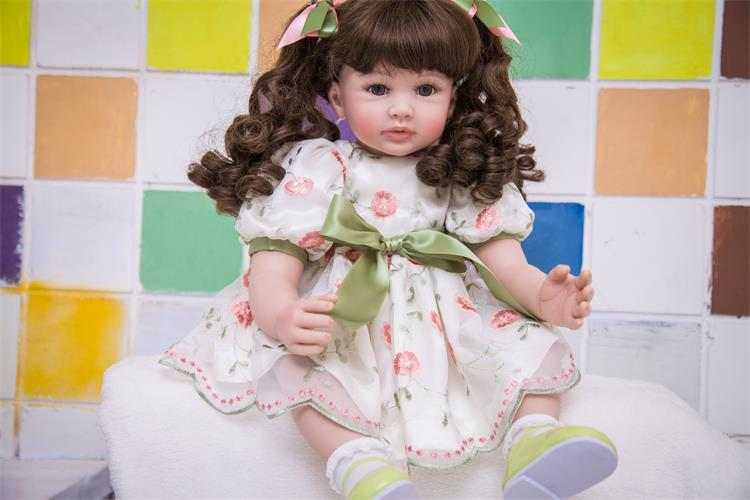 60cm Silicone Reborn Girl Baby Doll Toys Lifelike 24inch Vinyl Princess Toddler Babies Dolls Fashion Birthday Gift Xmas Present npk collection 22 inch lifelike reborn dolls toys silicone newborn baby girl fashion doll smiling princess xmas gift