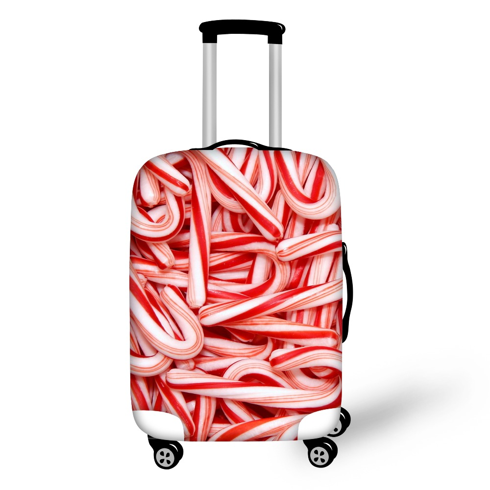 FORUDESIGNS Best Christmas Gifts Elastic Travel Trolley Accessories Santa Claus Printing Dustproof Luggage Protective Cover ...