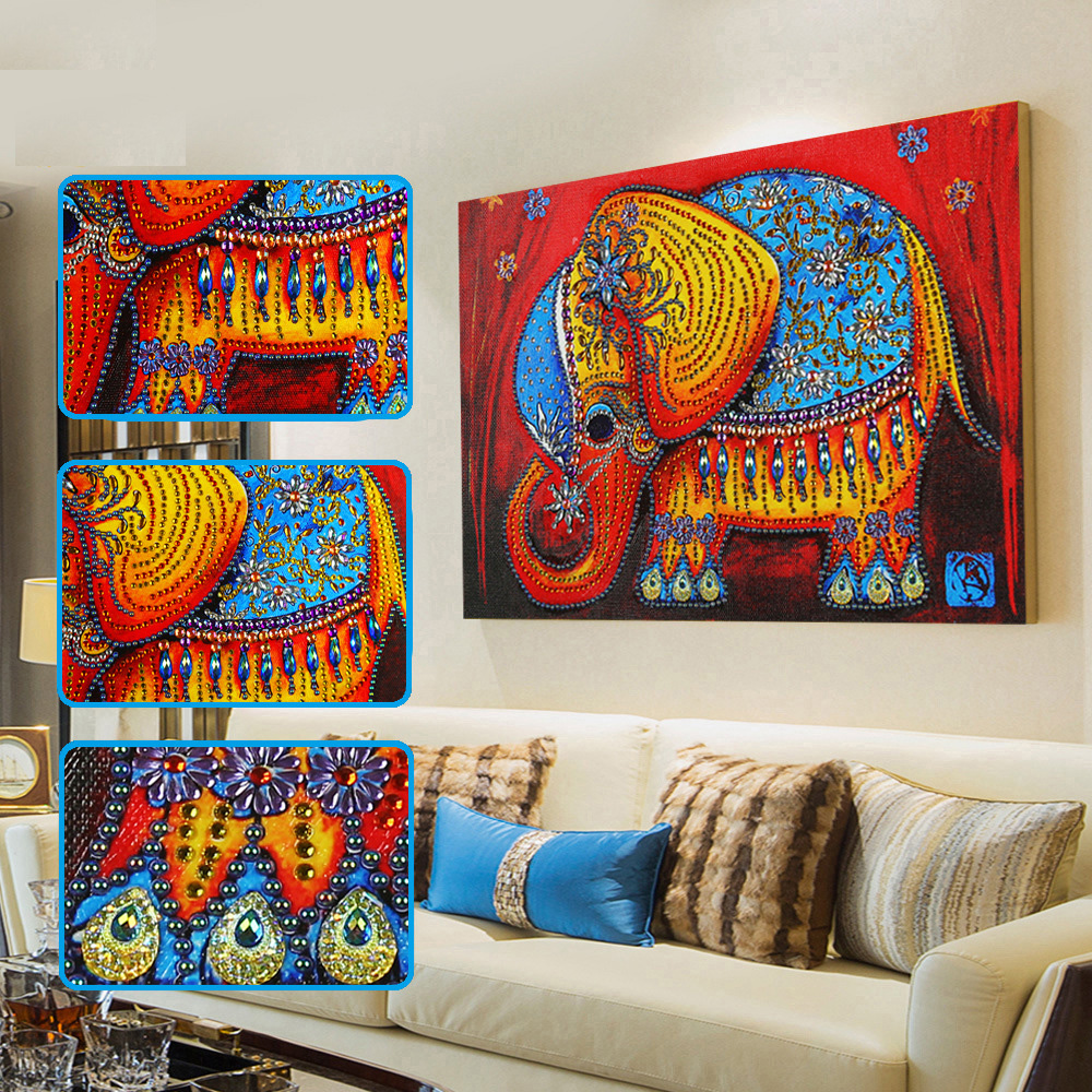 5D DIY Special Diamond Painting Elemphant Animal embroidery Cross stitch crystal Wall