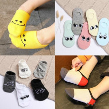 Sell well New spring and summer childrens cartoon short socks children smiley invisible boat