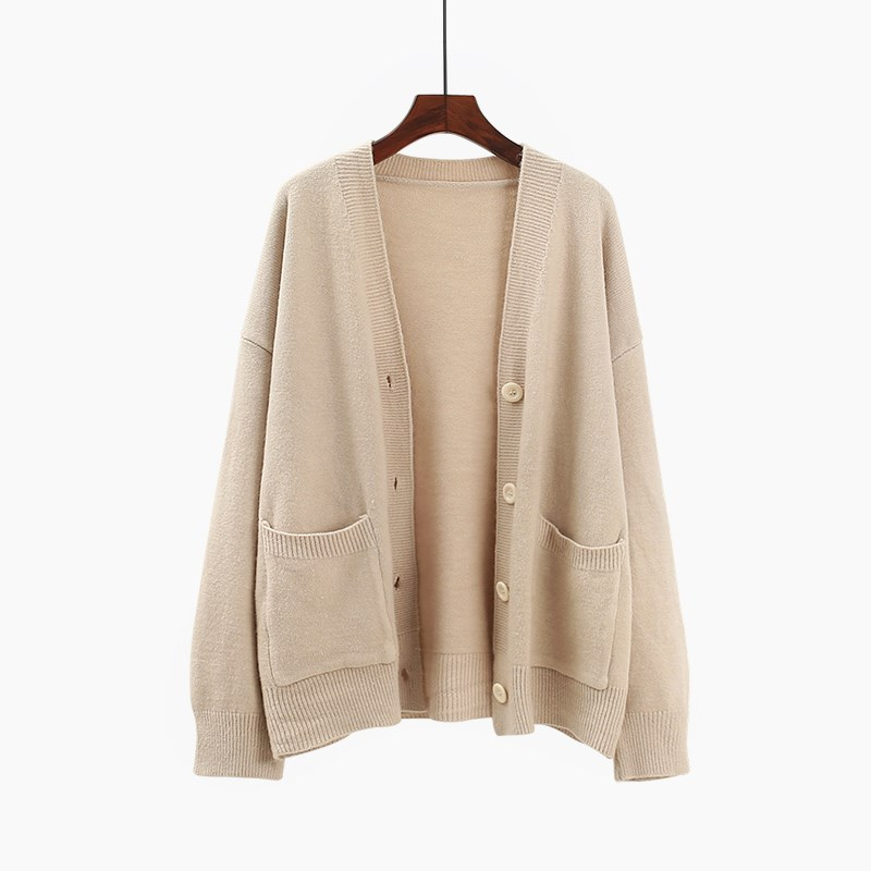 H.SA Ropa Mujer Invierno 2019 Cardigan Women Long Sleeve Oversized Khaki Jumpers Button Up Autumn New Korean Style Cardigans