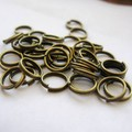Vintage Bronze Charms Double Split Jump Rings For Jewelry Making Findings Bracelets Crafts Handmade 1000pcs  10mm Z829