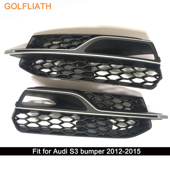 GOLFLIATH S3 styling ABS honeycomb mesh Front Grille Car Bumper Grills For Audi S3 2012-2015 grille